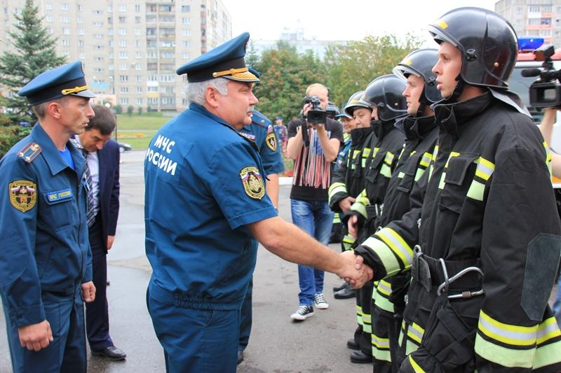 Начальник Сибирского регионального центра посетил пожарно-спасательную часть № 5  в Новокузнецке