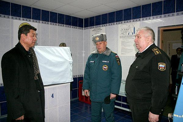 Визит в Кузбасс заместителя министра РФ А.П.Чуприяна с рабочей группой центрального аппарата МЧС России