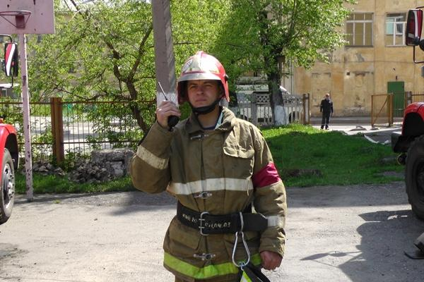 Пожарно-тактические учения в школе-интернате №74 г.Новокузнецк
