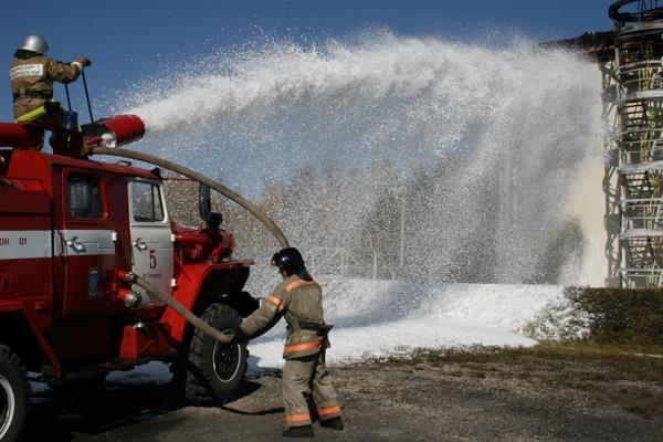 "Учение на Анжеро-Судженской ЛПДС. Тема: ""Защита ОЭ от лесного пожара"" 15.09.11г."