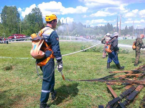 ТСУ по защите населенного пункта от лесного пожара. Таштагольский район - 28 июня 2011 года