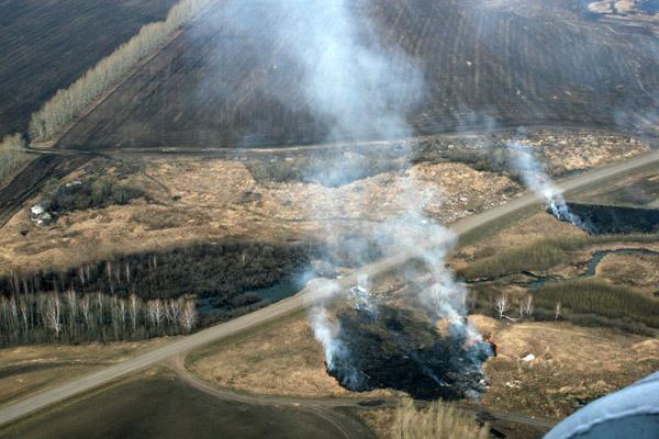 Аэровизуальная разведка северных территорий Кузбасса. 22.04.2011 года