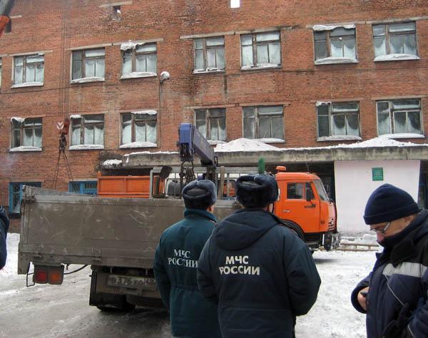 Обрушение крыши в горбольнице г. Белово