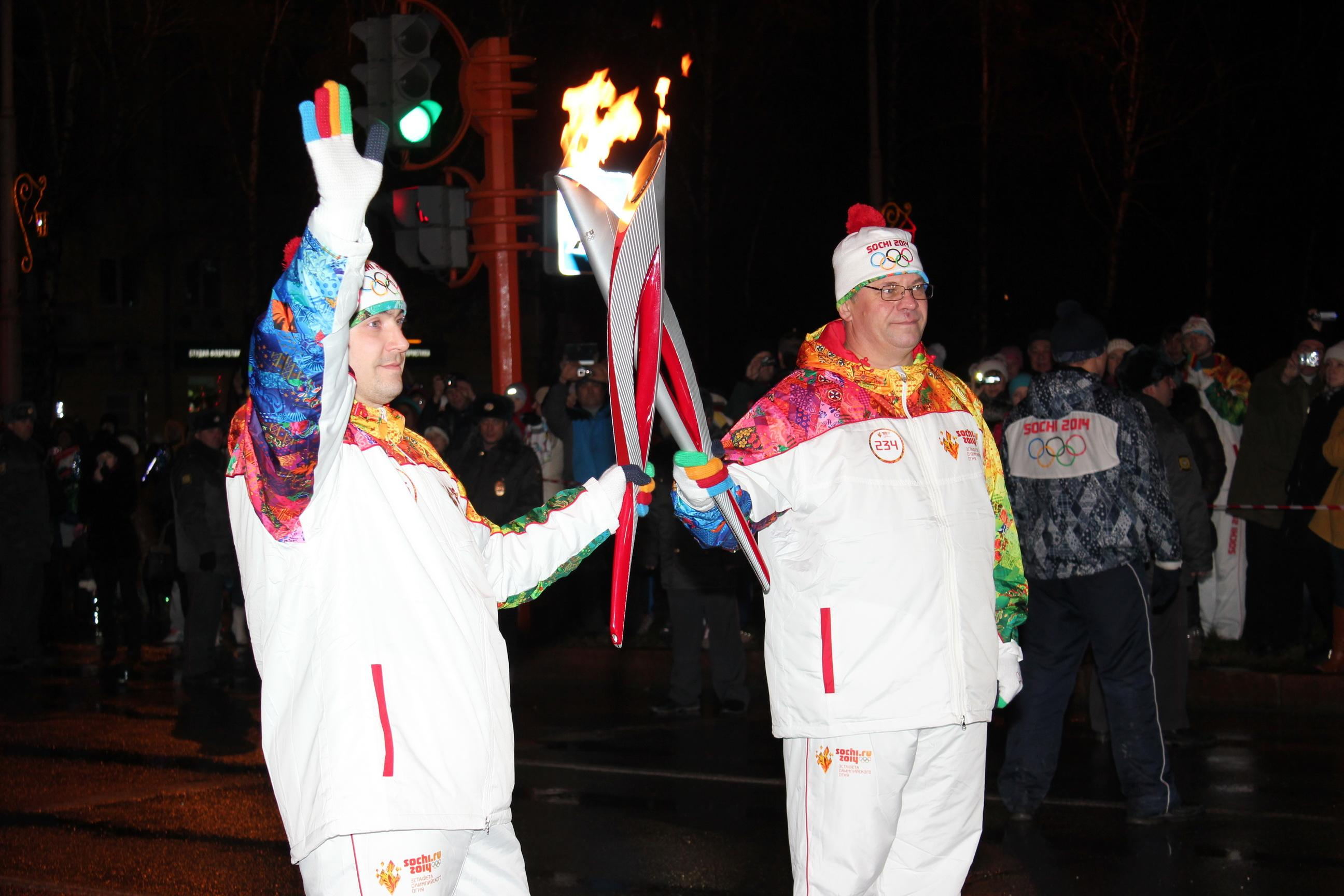 Эстафета Олимпийского огня в Кемерово