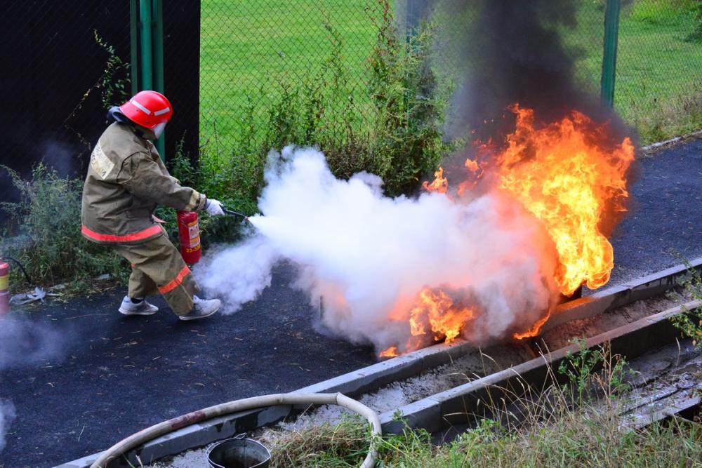 Соревнования между добровольными пожарными дружинами