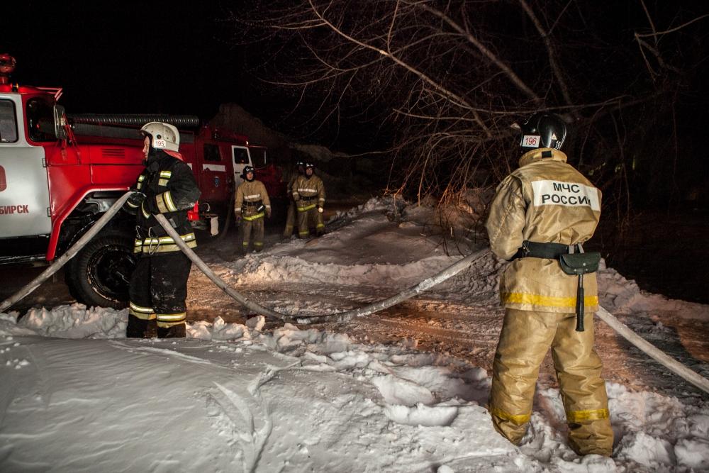 В морозы риск пожаров увеличивается