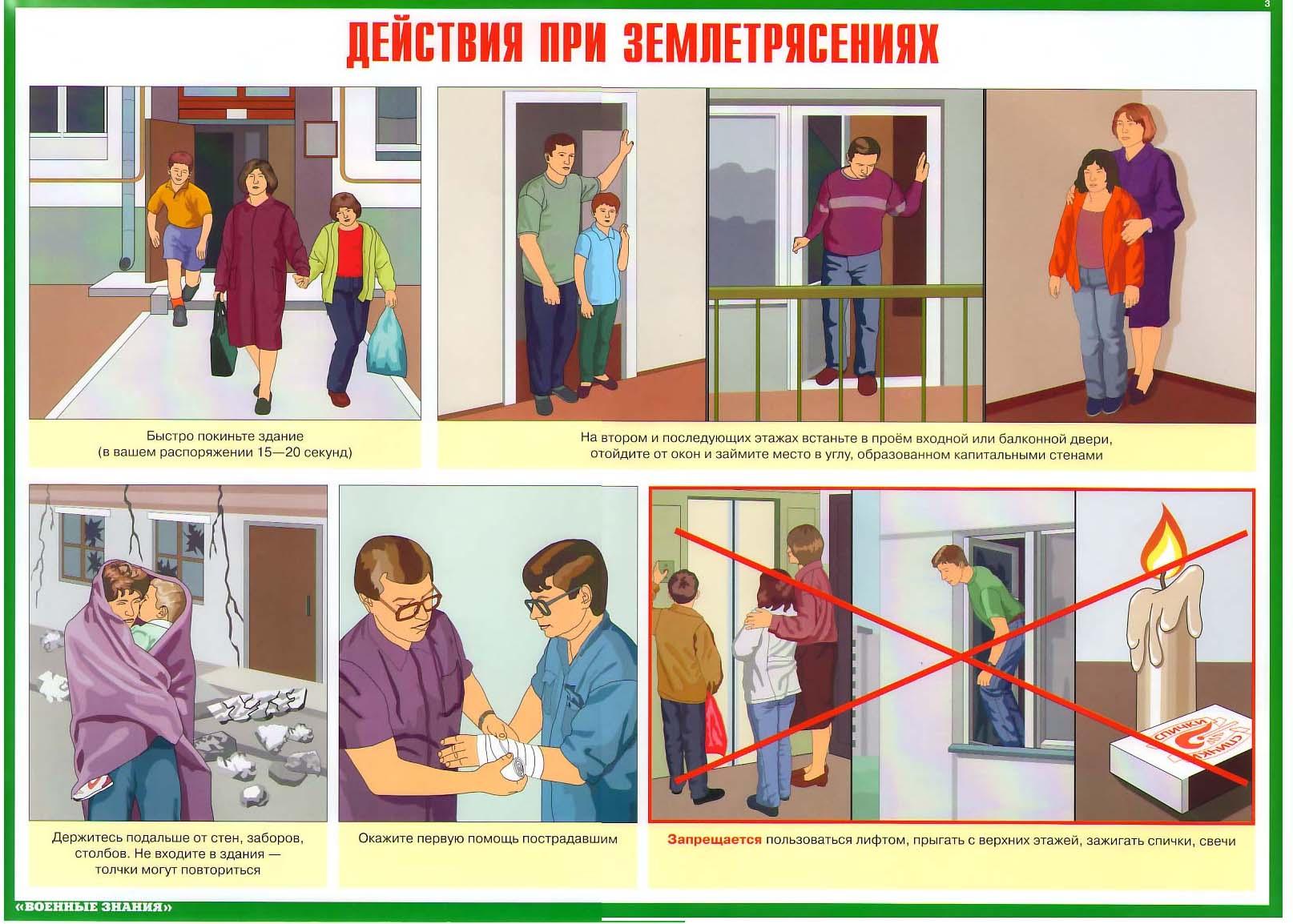 Действия населения при землетрясении