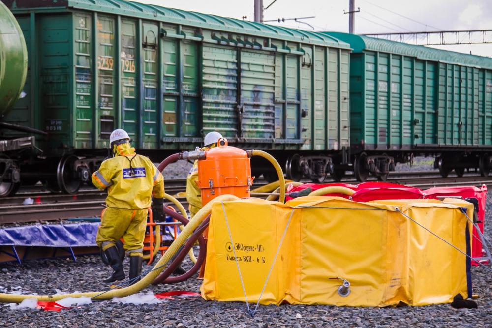 Учения по ликвидации чрезвычайной ситуации на железнодорожном транспорте