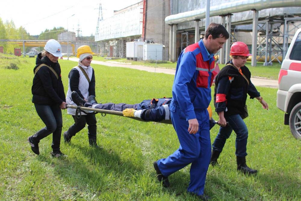 Учения на ТЭЦ-1 г. Томска по ликвидации чрезвычайной ситуации, связанной с разливом нефтепродуктов