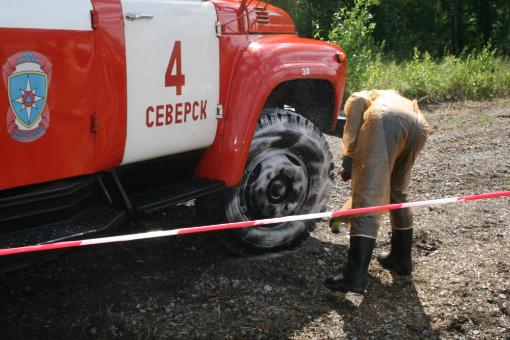 """Совместные учения с АО """"Сибирский химический комбинат"""" (25 июня 2015 года)"""