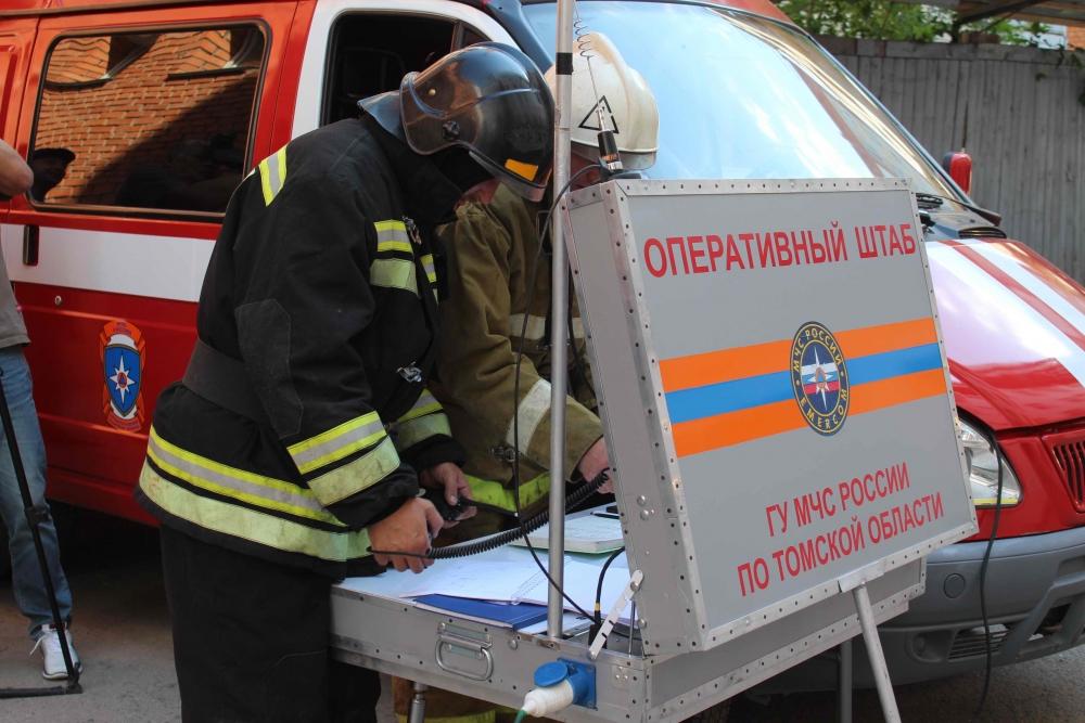 Пожарно-тактические учения в здании прокуратуры Томской области