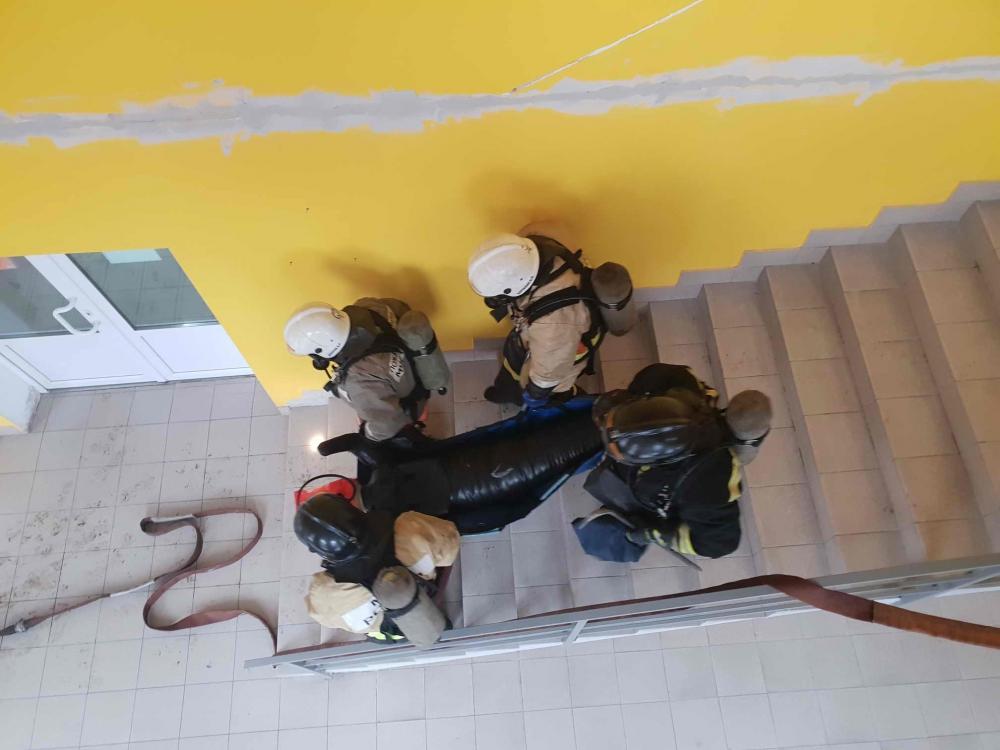 Тренировочное пожарно-тактическое учение в торговом центре «Волна» (23 января 2019 года)