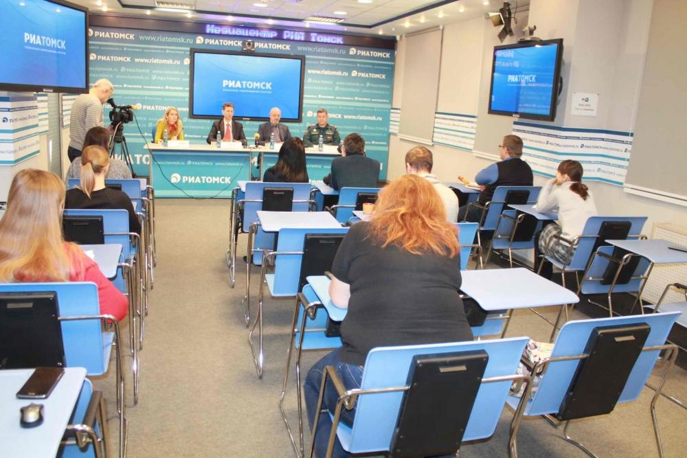 Пресс-конференция в медиацентре РИА Томск по безопасности в зимний период, 16 ноября 2015 года