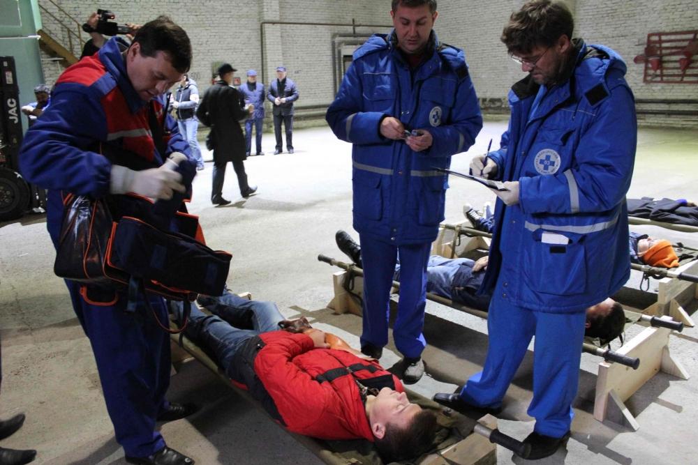 Командно-штабные учения в научно-производственном центре «Полюс»