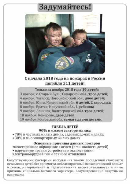 Профилактические мероприятия по профилактике гибели детей на пожарах совместно с волонтерами Северского промышленного колледжа (13 декабря 2018 года)