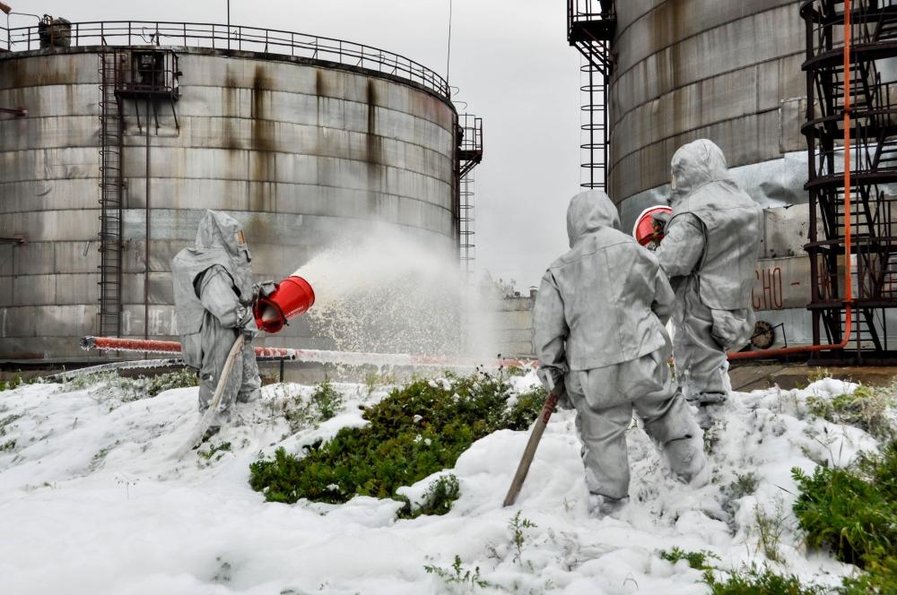 Учения по ликвидации аварийного разлива мазута на ТЭЦ филиала АО ОТЭК в г. Северске. (3 октября 2017 года)