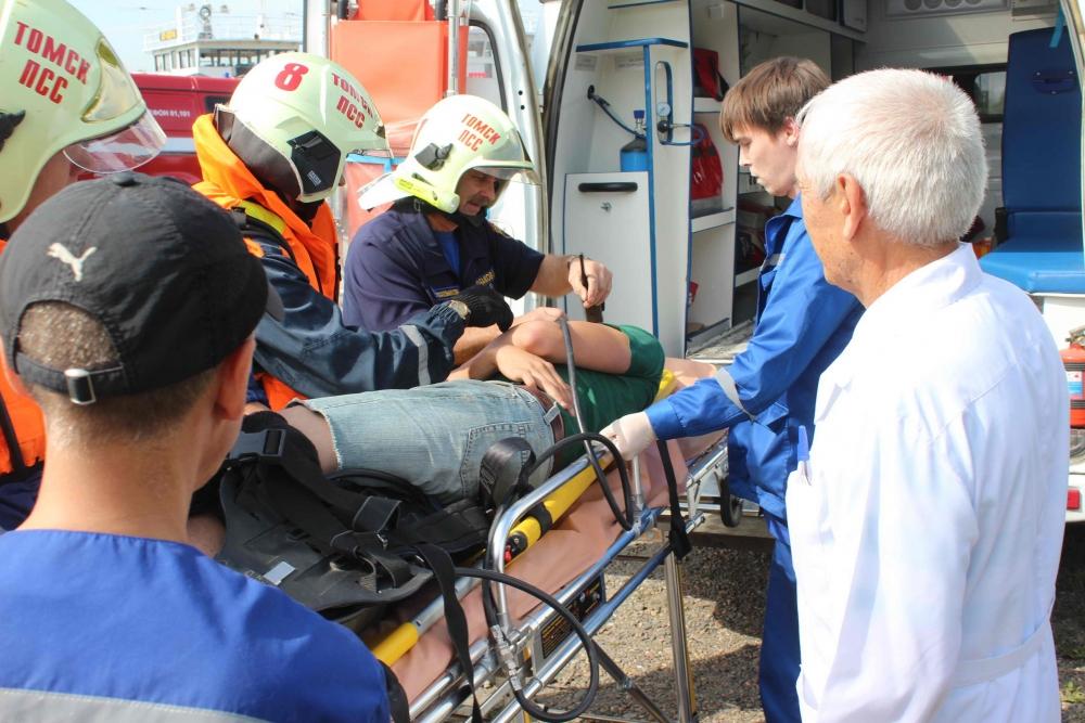 Пожарно-тактические учения по ликвидации пожара на пассажирском судне