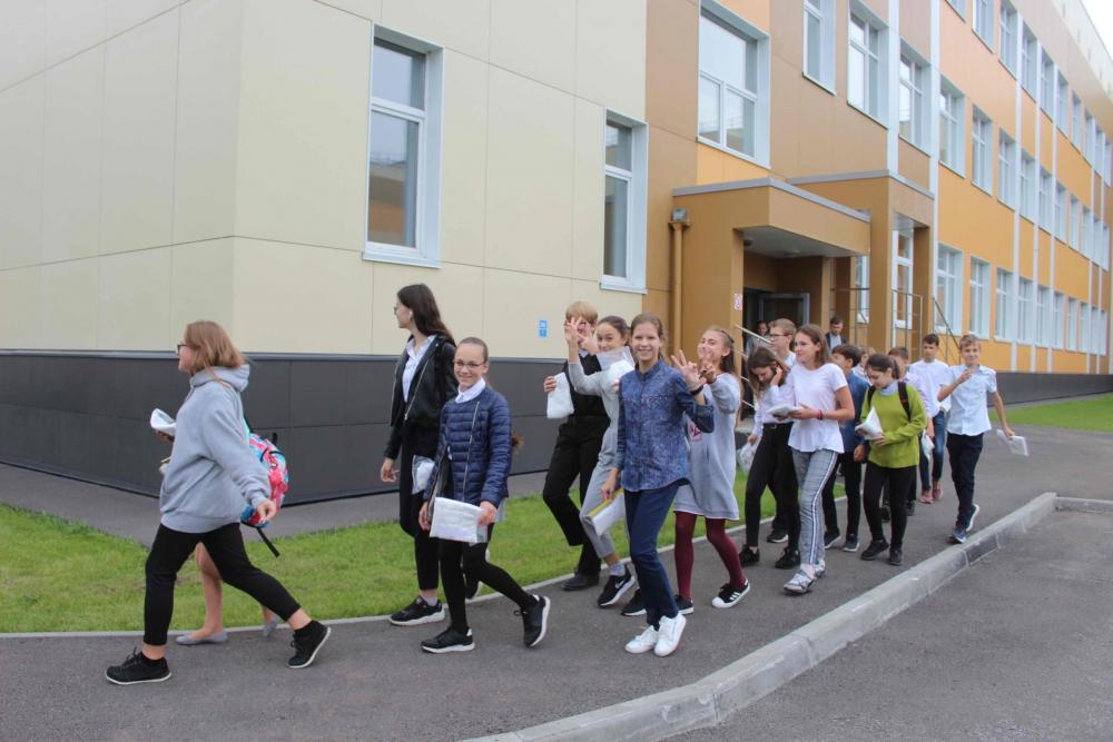 Учебная тренировка по эвакуации учащихся и персонала в школе «Перспектива» (19 сентября 2019 года)