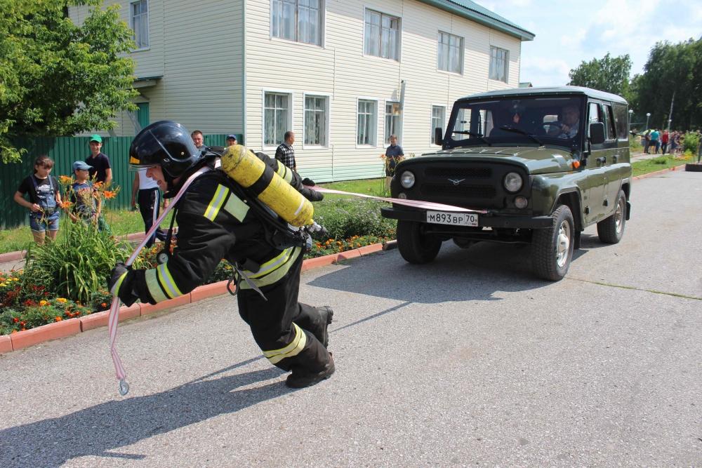 XVII чемпионат по пожарно-спасательному спорту среди пожарных и спасателей Томской области в с. Первомайское (пожарный кроссфит, закрытие чемпионата)