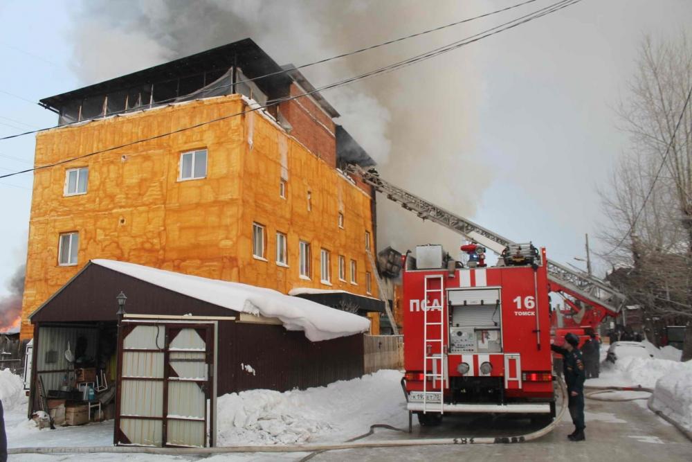 Пожар на ул. Мусы Джалиля