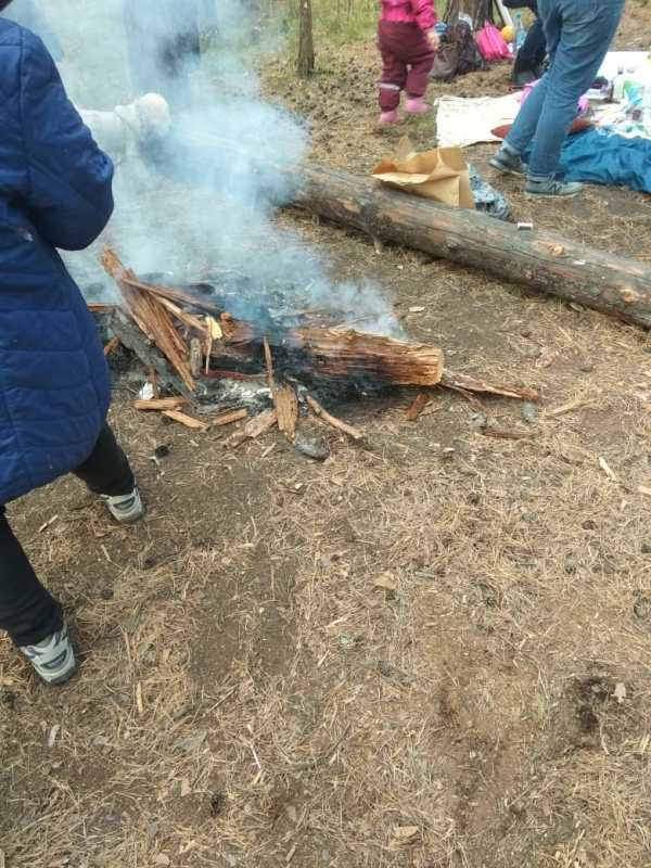 Северские пожарные провели рейд в лесополосе на территории ЗАТО Северск (12 октября 2019 года)