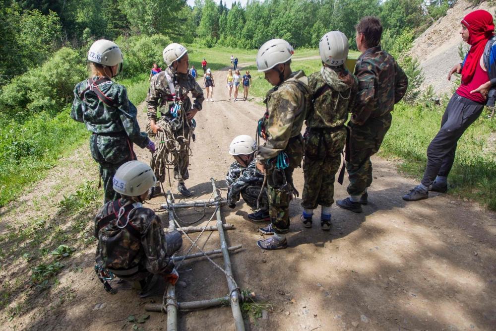 Второй день областных соревнований «Школа безопасности». Этап «Маршрут выживания».