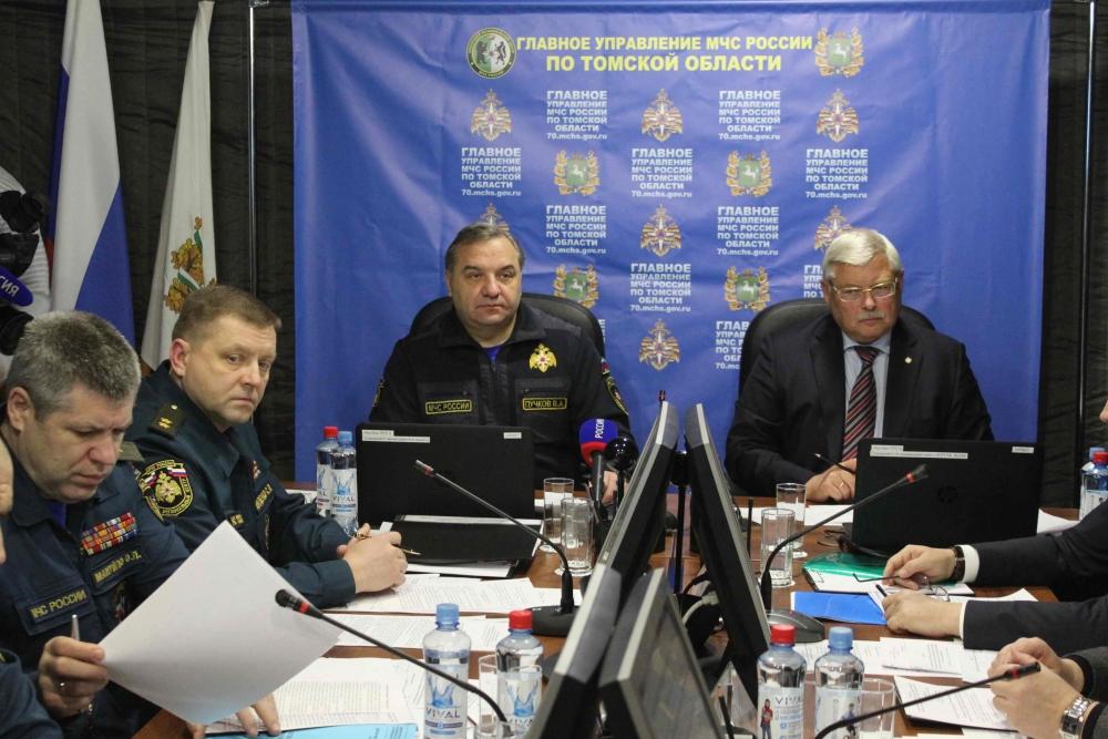 Глава МЧС России Владимир Пучков оценил готовность Томской области к паводкоопасному периоду