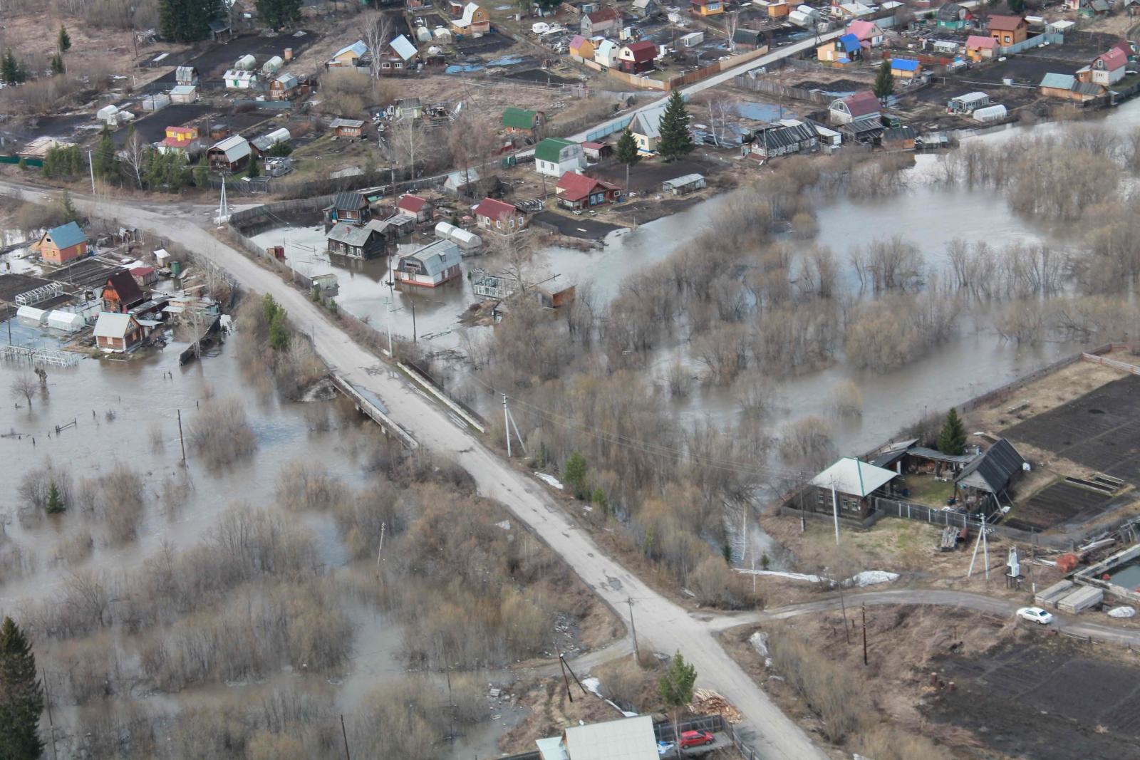 Авиаразведка паводковой обстановки, 24 апреля 2015 года