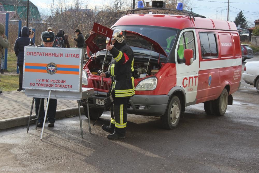 Пожарно-тактические учения в общежитии Томского государственного университета