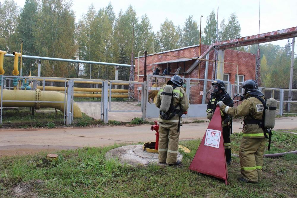 Командно-штабные учения по ликвидации аварии на газопроводе на ТЭЦ-1