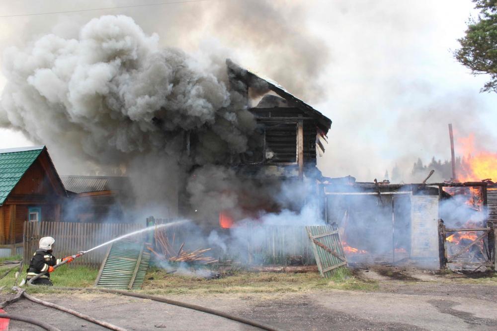 Пожар в с. Малиновка Томского района (4 июля 2019 года)