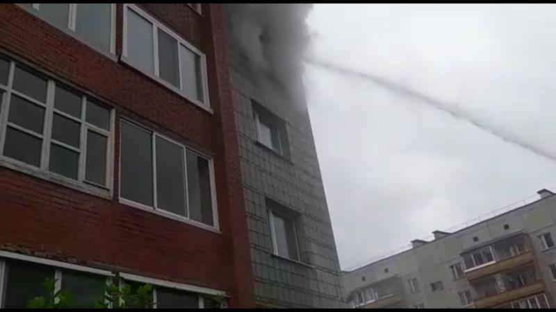 Пожар в квартире по ул. Ленинградской, 6А (18 июня 2019 года)