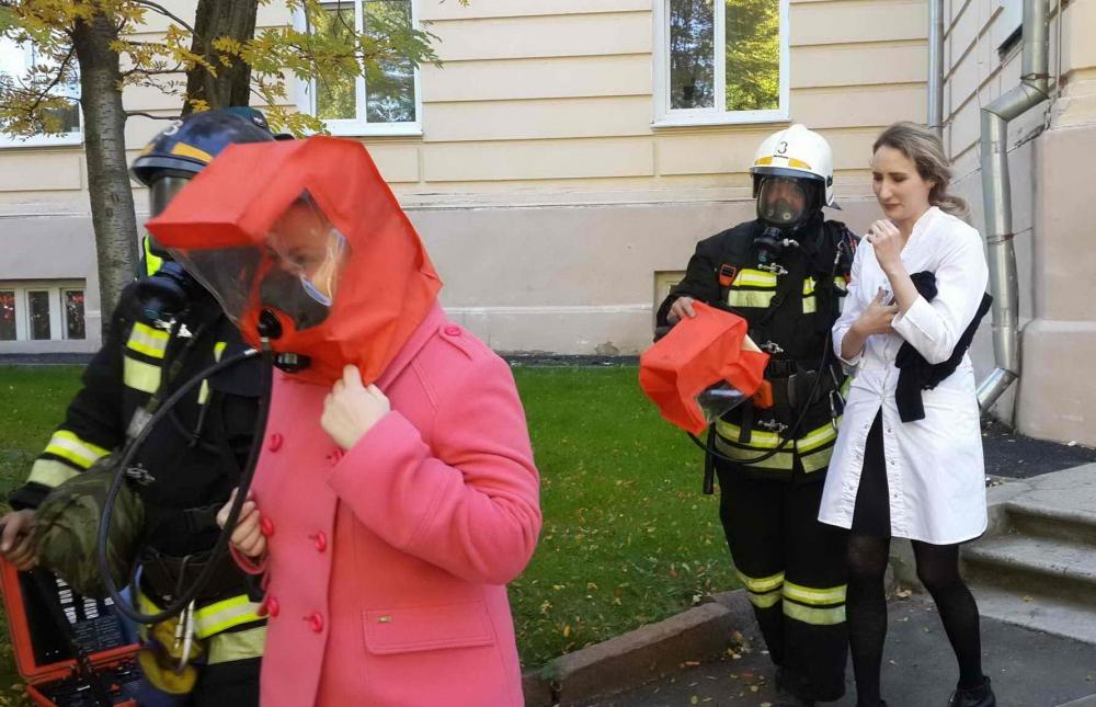 Пожарно-тактические учения в Сибирском государственном медицинском иниверситете