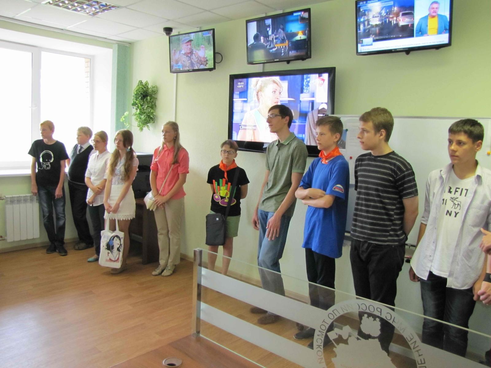 Экскурсия в Главном управлении МЧС России по Томской области участников трехдневного полевого лагеря, проходившего на базе санатория «Заповедное», 3 августа 2015 года