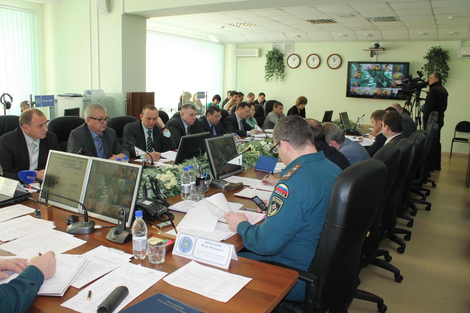 Заседание областной межведомственной комиссии по предупреждению и ликвидации ЧС и обеспечению пожарной безопасности по подготовке к пропуску паводковых вод, 23 января 2015 года