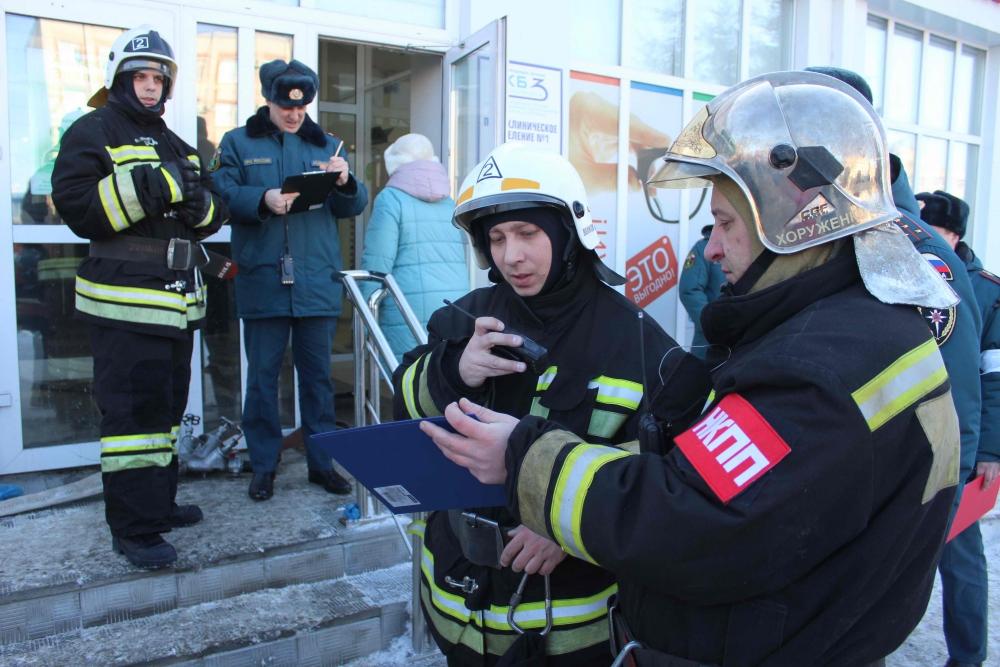 Тренировочное пожарно-тактическое учение в поликлинике Городской клинической больницы № 3 (15 февраля 2019 года)