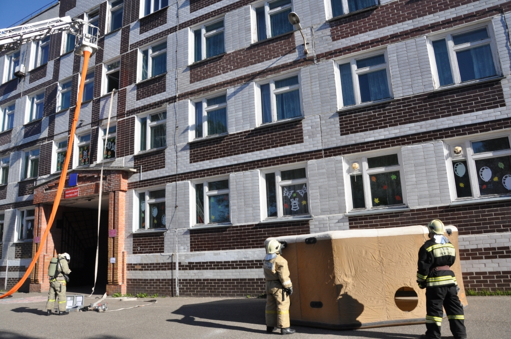 Показные пожарно-тактические учения в Северской гимназии. Часть 2. (19 сентября 2018 года)