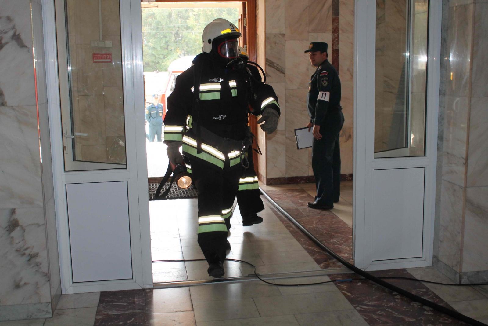 Пожарно-тактические учения в Томском кадетском корпусе, 11 сентября 2015 года