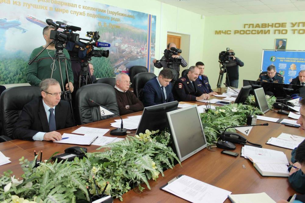 Заседание областной межведомственной комиссии по предупреждению и ликвидации чрезвычайных ситуаций и обеспечению пожарной безопасности по подготовке к паводку