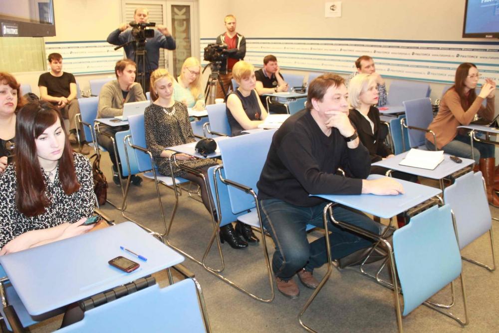 Пресс-конференция в медиацентре РИА Томск по пожару в с. Молчаново Молчановского района, 5 апреля 2016 года