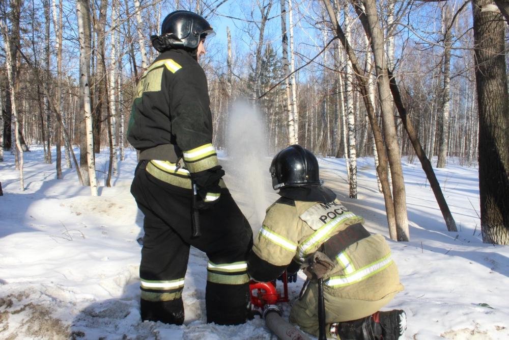 Тактико-специальные учения в Сосновом бору при подготовке к лесопожарному периоду (21 марта 2019 года)