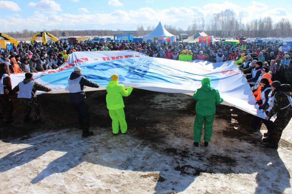 Фестиваль Томской области «Народная рыбалка-2016» на озере Родниковом в Шегарском районе, 19 марта 2016 года