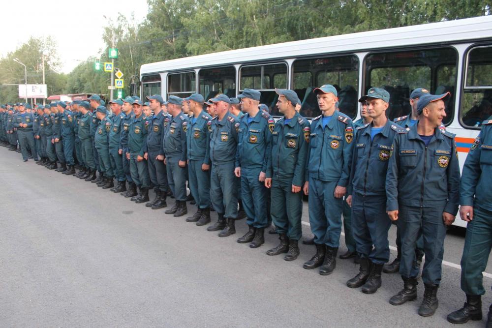 Томские спасатели направлены в Красноярский край на тушение природных пожаров (7 августа 2019 года)