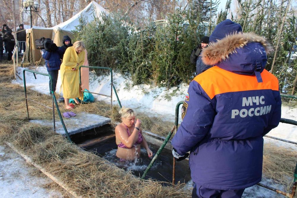 Обеспечение безопасности при проведении крещенских купаний, 19 января 2016 года