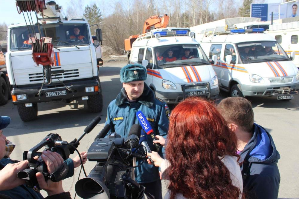 В Томскую область прибыл отряд военнослужащих Сибирского спасательного центра МЧС России