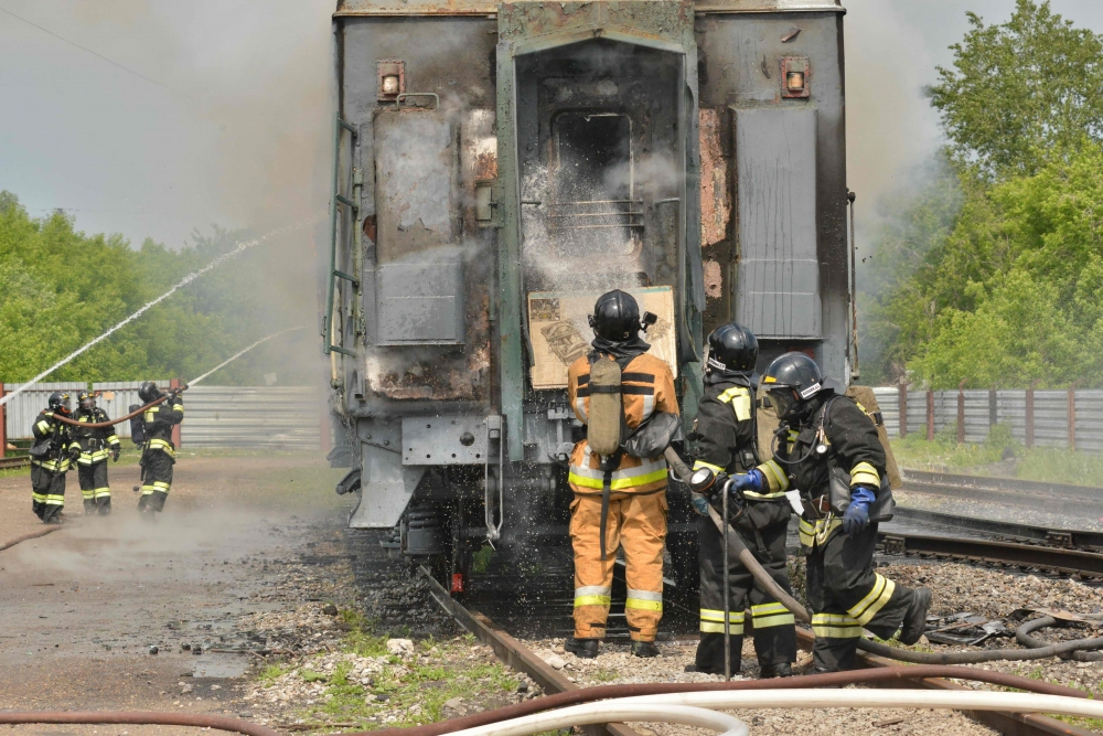 Пожарно-тактические учения на железнодорожной станции «Томск II»