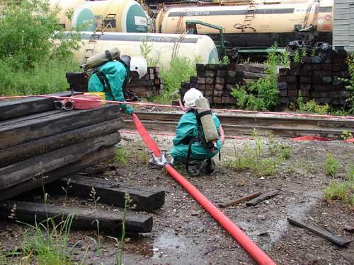 Сход двух вагонов на Томскнефтехиме