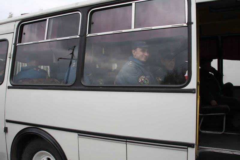 Убытие сводного отряда ГУ МЧС России по Томской области в Алтайский край для оказания помощи населению