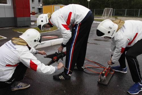 Слет студенческих добровольных пожарных дружин г. Томска. Второй день