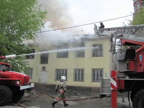 Пожар на пр. Фрунзе, 59.